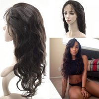 Brazilian Virgin Hair Body Wave 360 Lace Frontal Closure Ful...