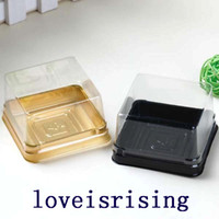 50pcs=25sets 6. 8*6. 8*4cm Black&Gold Bottom Mini Size Plastic...