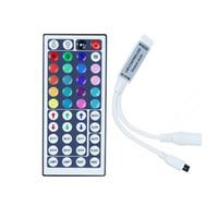Contrôleur led 10 pièces DC12V 6A Mini RGB avec 44 touches Télécommande IR Gradateur sans fil pour bande de LED 5050 3528 34 modes