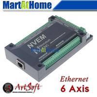 CNC 6 AIX 200KHZ Ethernet MACH3 Motion Control Card para Servo Motor, Motor de Passo # SM726 @ SD