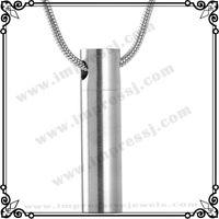 IJD2023 Leere Zylinder 316L Edelstahl Feuerbestattung Urne Anhänger Halskette Hochglanz Asche Andenken Schmuck Urne Halter