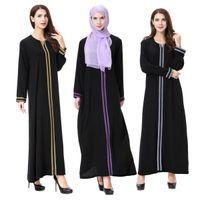 Мода Муслим взрослых женщины кружев Абая Prayer платье с длинным рукавом Дубай Одежда Стиль Arabian Одеяние Этнический костюм