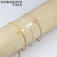Wholesale- GORGEOUS TALE Trendy Stainless Steel Gold Silver ...