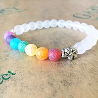 8mm Natural Agate Stone Colorful Strands Charm Elephant Bracelets Yoga Prayer Beaded For Men Donne Gioielli