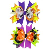 Handmade Halloween Hair Bows for Girls 2017 Trendy Boutique ...