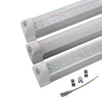 4FT LED 튜브 빛 T8 통합 LED 조명 전구 28W 3080LM 4 피트 1.2M 더블 행 SMD 2835 LED 형광 튜브 램프