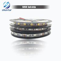5050 قطاع الصمام 60 المصابيح / م 5 م 300 المصابيح IP20 غير ماء دافئ أبيض / أبيض / أحمر / أزرق / أصفر / أخضر / RGB الشريط للديكور المنزل