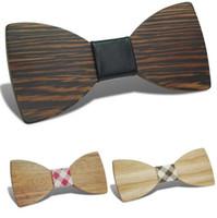 الأزياء الخشب بووتي 20 نمط اليدوية خمر bowknot التقليدية لل زفاف شهم المنتج النهائي خشبي القوس التعادل 12 * 5.5 سنتيمتر للبالغين