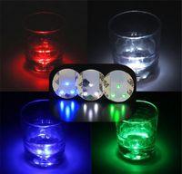 LED blinkt Glühbirne Flasche Tasse Mat Coaster für Party Night Club Bar Party Geschenk 3M Aufkleber Tasse Becher Coaster Festival Light