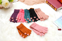 Newest! Colorful Winter warm touch glove Cotton capacitive s...