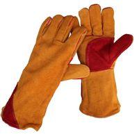 NEUE 1 Paar 16 '' Heavy Duty Gefüttert Verstärkt P alm Schweißen Handschuhe Schweißer Labor Handschuhe Schutzhandschuhe
