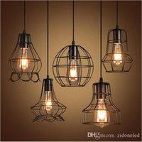 Attrayant 8 Photos Wholesale Birdcage Light Fixtures   Retro Iron Led Pendant Light  Loft Lamps E27 Birdcage LED Industrial