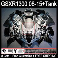 8gifts FOR SUZUKI Hayabusa GSXR1300 08 15 GSXR-1300 gloss white 14MY150 GSXR 1300 GSX R1300 09 10 11 12 13 15 15 Fairing black white Kit