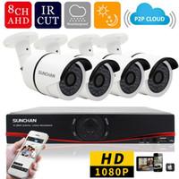 1080P Full HD AHDH 8CH DVR 4 PCS 2.0MP SONY 1080 P Caméra de Sécurité Bullet Vision Nocturne Système de Surveillance de Maison Extérieur