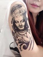 Noir Maori Tableau temporaire Tatouages Hommes Faux Faux Cody Art Dessin Full ARM 3D Wolf Dragon militaire tatouages pour spectacle