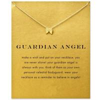 قلادة قلادة مع بطاقة الذهب الفضة قلادة قلادة للأزياء المرأة مجوهرات الجارديان ملاك