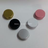 Pots à crème en aluminium de 30 g avec couvercle à visser, boîte à cosmétiques, boîte en aluminium de 30 ml, contenant à baume à lèvres en aluminium
