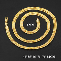 Luxury Man Woman Necklace 18K Yellow Gold Plating 6mm Fox Ta...