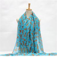 الجملة- السيدة 2016 نماذج انفجار الحيوانات الصغيرة طباعة الشيفون الحرير وشاح شال 180 * 90 cm الأوشحة