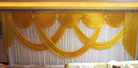3m*6m wedding backdrop swag Party background cloth Curtain C...