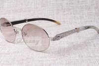 하이 엔드 라운드 다이아몬드 선글라스 7550178 자연 흑백 각도 직각 선글라스 남성 여성 안경 크기 : 57-22-135 mm