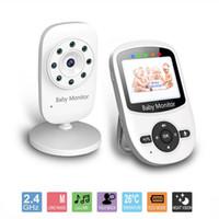 Moniteur bébé sans fil numérique 2.4 pouces avec caméra Baby-sitter électronique Support interphone Température Nanny 2x Digital Zoom