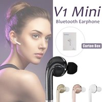 V1 Mini Stealth Wireless Bluetooth 4. 1 Earphone Stereo Headp...