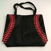 2017 Softball Radfahren Lady Canvas Bag Schulter Baseball-Tasche Frauen Handtasche Cute Canva Tote Bag Basketball