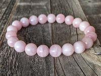 Розовый кварц Мадагаскар розовый кварц браслет 8мм Stretch Браслет Рэйки Розовый браслет