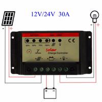 فريشيب العالمي 30A 12V / 24V PWM لوحة للطاقة الشمسية شاحن وحدة تحكم بطاريات بطاريات خلايا شحن منظم تحديد الهوية التلقائي