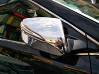 Высокое качество ABS хром 4шт сторона двери автомобиля зеркало декоративная крышка заднего вида охранник крышка для Hyundai Santafe / IX45 2013-2017 годы