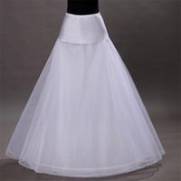 Biçimsel Gelinlik Ücretsiz Boyut Beyaz Etek Kayma Kabarık etek Gelin Aksesuarları 1 Hoop Kemik Jüpon için yepyeni A-Line petticoats