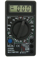 Schwarzer DT830D Digital-Multimeter mit Summerspannungs-Ampere-Meter-Testsonde DC-Wechselspannung LCD Multitester Multimetro