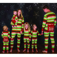 New Family Matching Outfits Print Rein Deer Christmas Clothi...