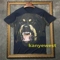 2019 nueva ropa de moda para hombres camiseta de manga corta 3D Rottweiler camiseta de color azul camiseta de algodón unsex tops Camisetas camiseta de diseñador