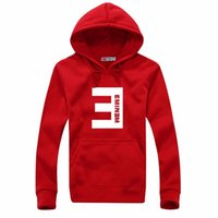 Neue Designer Winter-Eminem Printed Pullover Männer Fleece verdicken Hip Hop-Mann-Pullover Mode Male Sweatshirt Herrenkleidung