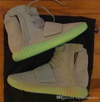 2017 New 750 Boost Kanye West Noctilucent Light Grey Glow In...