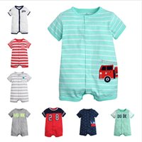 Short Sleeve Boys Rompers Baby Girls Unisex Infant Toddler J...