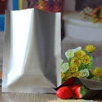 5 * 7 cm Saf Gümüş Alüminyum Folyo Üstü Açık Mylar Paketi Çantası 200 Adet / grup Isı Mühür Vakum Ekmek Bisküvi Nem Geçirmez Depolama Kılıfı