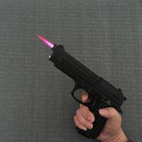 대형 금속 권총 M9 군사 모델 총 금속 라이터 방풍 금속 리볼버 유형 건 라이터를 추진.