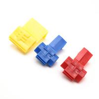150pcs Suyep Quick Splice Lock Wire Terminales Conector Eléctrico Crimp 801 Rojo 802 azul 803 kit de surtido amarillo