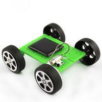 Großhandel - minifrut grün 1 stücke mini solar betriebenes spielzeug diy auto kit kinder pädagogisches Gadget hobby lustig