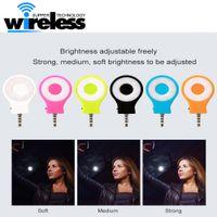 Universal recarregável 8 led flash de luz até mini selfie luz do telefone lanterna para iphone 6 7 plus samsung s8 s8 plus