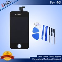 For iPhone 4S Black Touch LCD Screen Digitizer Replacement w...