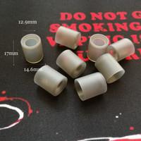 Tapas de prueba de silicona blanda Calibre ancho Disipador desechable Cubierta de boquilla de goma gris Probador de boquilla para atomizador de gran diámetro RDA RDTA Vape DHL Free