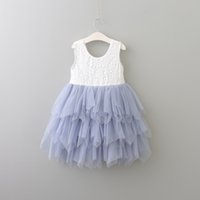 2017 Girls Tulle Lace Party Dresses Kids Girls Pricness tutu...