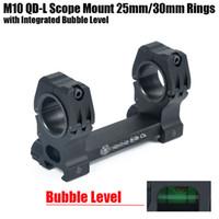 Tactical M10 QD-L Portata del Fucile da 25mm-30mm Diametro Anelli con Livella a bolla integrata Fit Tessitore Picatinny Nero