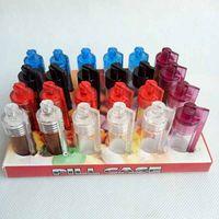 36 мм 51 мм Акриловая пластиковая бутылка съемка Snorter Snorter для курения инструмент дозатор пуля ракетный стеклянный пилюльщик чехол контейнер с ложкой несколько цветов