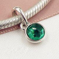 2017 свободные бусины 925 стерлингового серебра может капля мотаться очарование с драгоценным камнем подходит Европейский Pandora ювелирных изделий браслет ожерелье