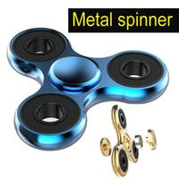 Versione aggiornata Spinner a mano Fidget Toy Spinner Materiale in alluminio ad alta velocità 3-4 min Perfect Stress Reducer and Killing time oth386